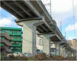 基礎 コンクリート 高架線 新幹線 24N